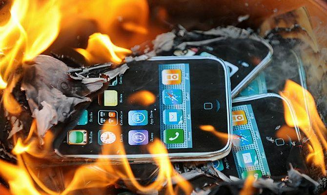 Телефон сгорел