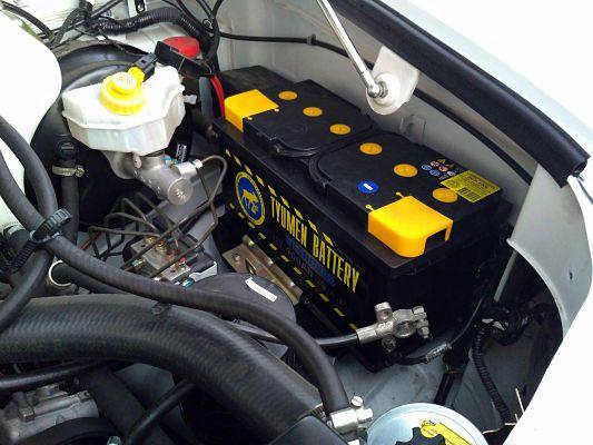 Тюменский аккумулятор установлен в машину