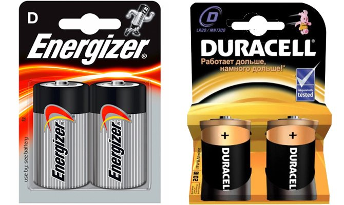 energizer и duracell