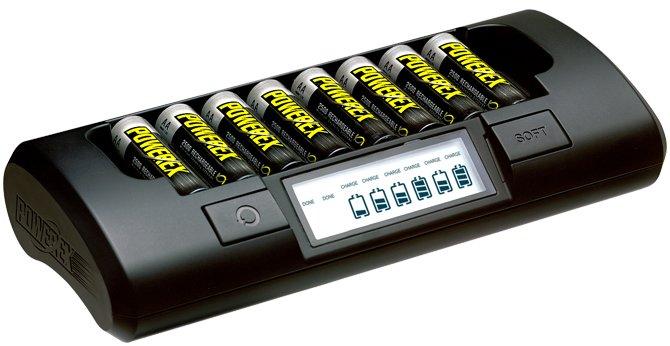 Большой зарядник на 8 батареек