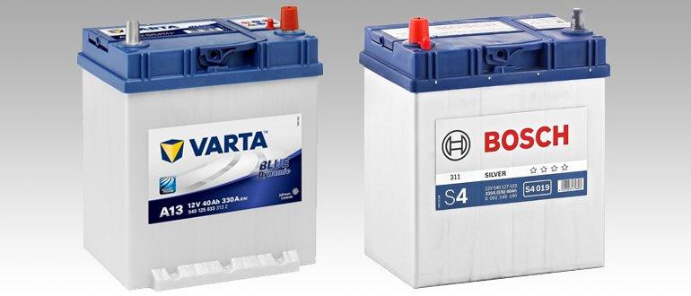 Varta и Bosch