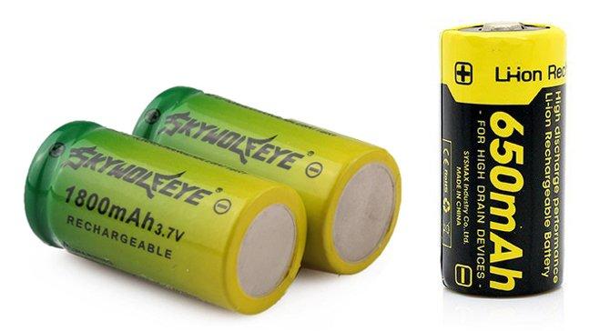 li-ion батареи 16340