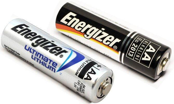 lithium и alkaline