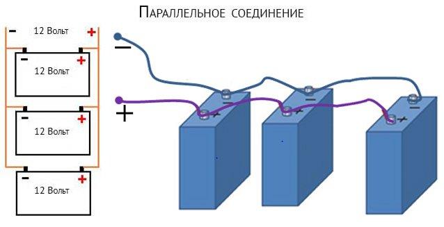 параллельное соединение АКБ