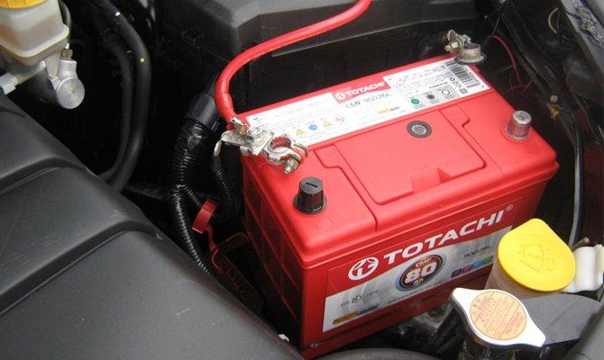 Батарея установлена в автомобиле
