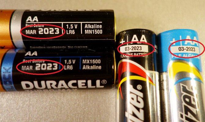 Дата на батарейке