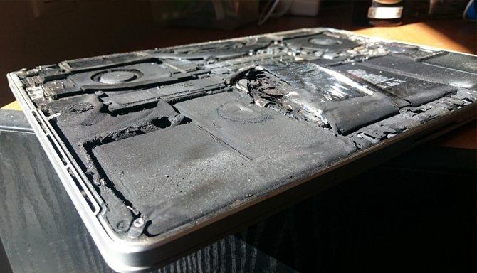 Сгорел ноутбук