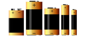 Полярность батареек